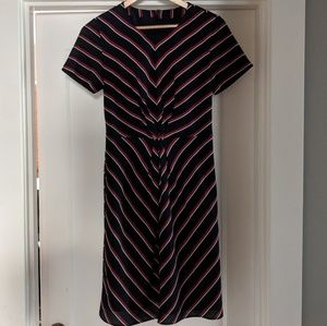 Banana Republic Striped Silk Dress
